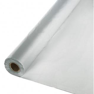 30 Meter Rolle Plastik Tischdecke Silber