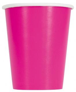 14 Papp Becher Neon Pink 266ml