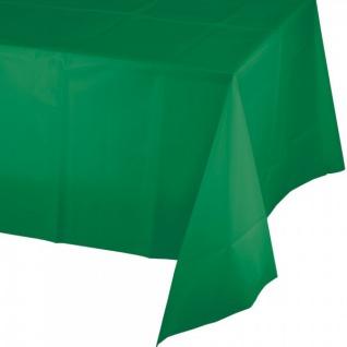 Plastik Tischdecke in Smaragd Grün