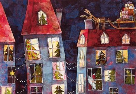 Weihnachtskarte Heiliger Abend