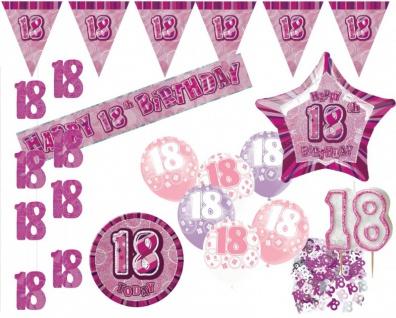 Dekorations Set zum 18. Geburtstag Party Set in Pink