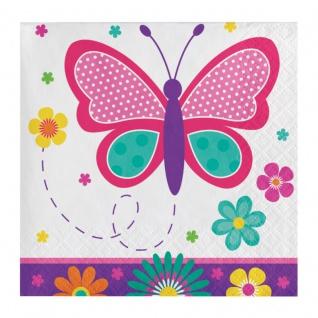16 kleine Servietten Schmetterling im Garten