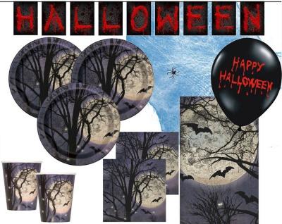 XXL 41 Teile Atemlose Nacht Halloween Party Set für 8 Personen