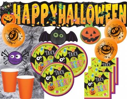 XXL Halloween Deko Set Halloween Sweets - Süßes oder Saures 8 Personen