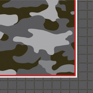 18 kleine Servietten Camouflage im Einsatz