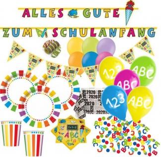 XXL 56 Teile Schulanfang Party Deko Set 2020 für 8 Personen