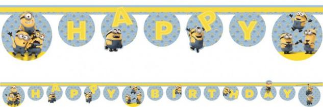 Minions Geburtstags Girlande