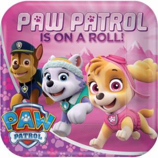 8 Papp Teller Paw Patrol Pink