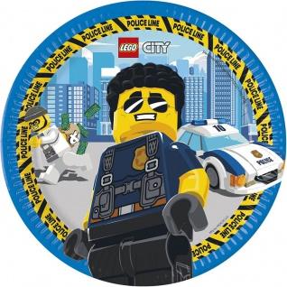8 Papp Teller Lego City Polizei ECO Linie