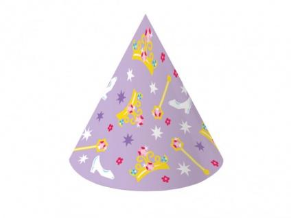 8 Party Hütchen Prinzessinnen Kronen