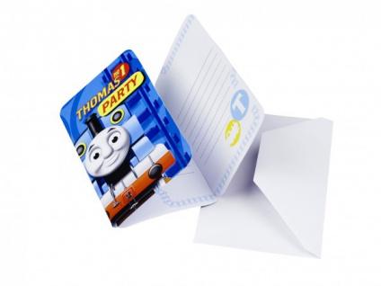 6 Einladungskarten Thomas Eisenbahn Party