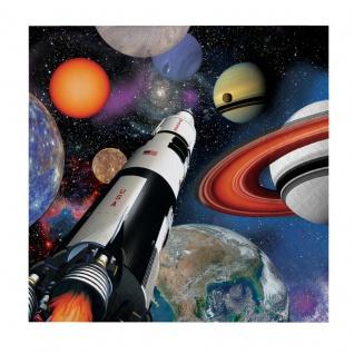 16 kleine Servietten Weltraum Mission