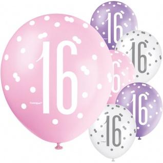 XL 36 Teile 16. Geburtstag Pink Dots Party Set 8 Personen - Sweet Sixteen - Vorschau 4