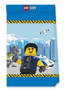 4 Papier Tütchen Lego City Polizei
