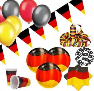 XXL 96 Teile Deutschland Party Deko Set 20 Personen