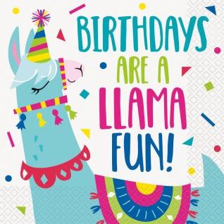16 Servietten Crazy Lama