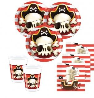 6 Einladungskarten Piraten Jolly Roger Totenkopf - Vorschau 2