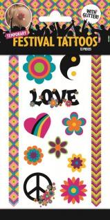 1 Bogen Kinder Tattoos Peace and Love