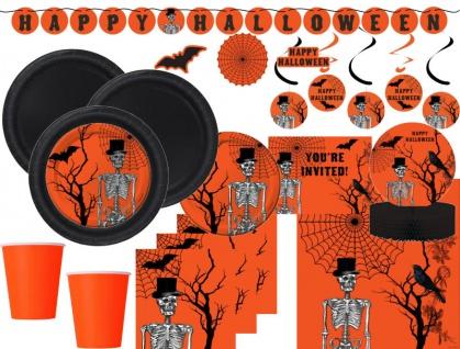 XXL 78 Teile Halloween Deko Set Halloween Kulisse 8 Personen