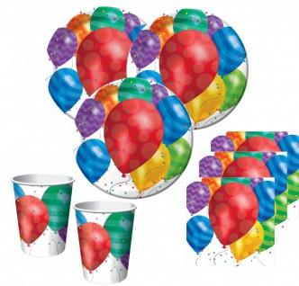 32 Teile bunte Ballons Party Deko Set für 8 Personen
