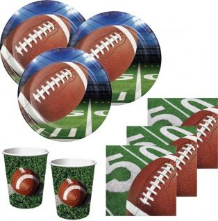 48 Teile American Football Superbowl Party Deko Set 16 Personen Touchdown