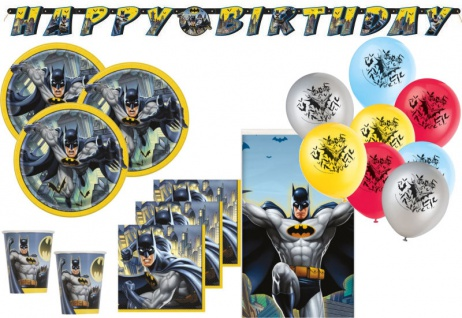 XL 42 Teile Batman Superhero Party Deko Set für 8 Kinder