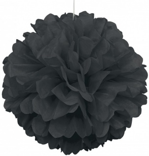 1 großer Papier Dekoball 40 cm in Schwarz