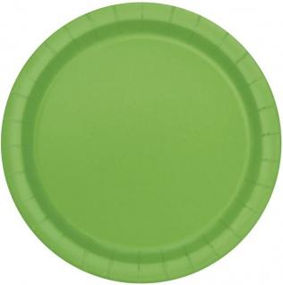 8 Papp Teller Hellgrün