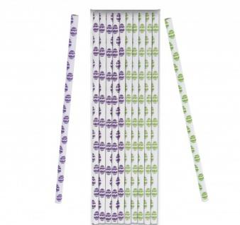 10 Papier Trinkhalme mit Ostereier Motiven