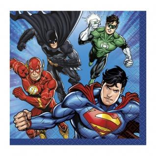16 kleine Servietten Justice League