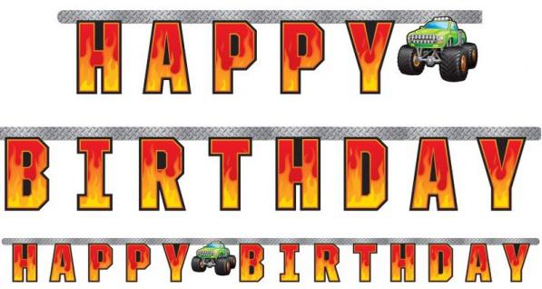 Geburtstags Girlande Monster Truck Rallye