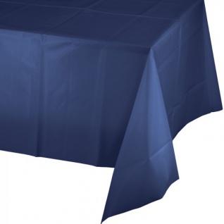 Plastik Tischdecke Marine Blau