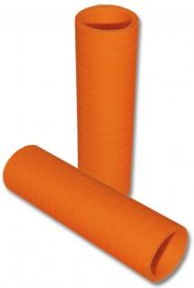 Papier Luftschlangen Orange - 1 Rolle a 20 Wurf flammensicher