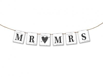Hochzeits Girlande Mr & Mrs zur Hochzeit