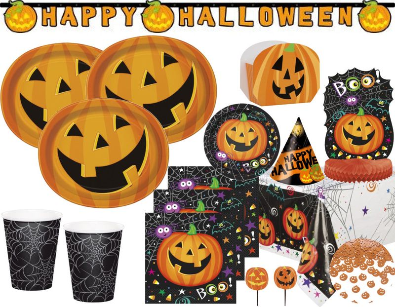 Xxl Halloween Deko Set Kurbis Kumpels Fur 8 Personen Kaufen Bei Kids Party World
