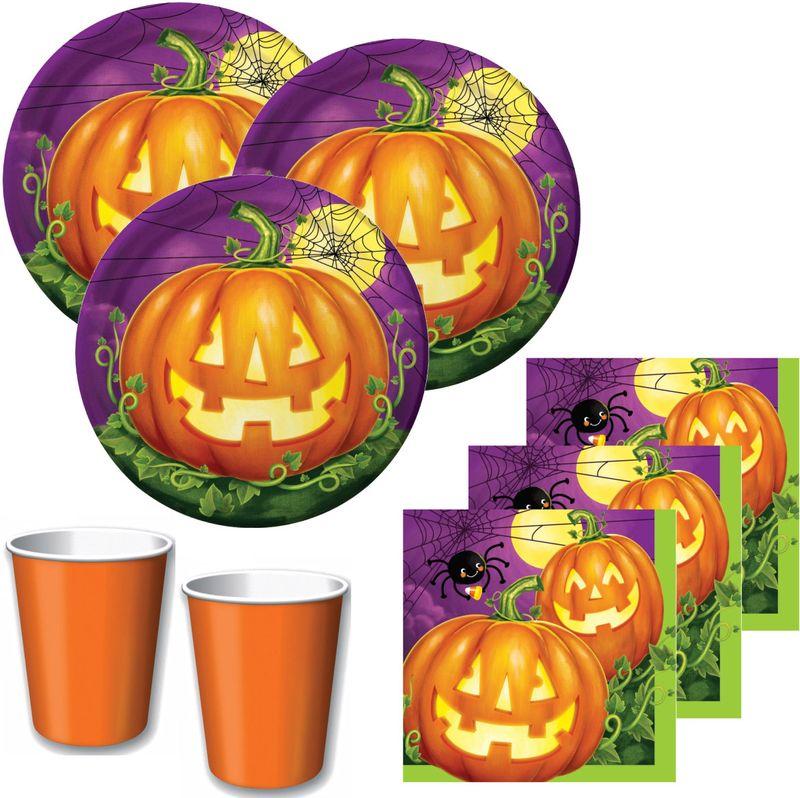 32 Teile Halloween Deko Set Kurbis Leuchte 8 Kinder Kaufen Bei Kids Party World