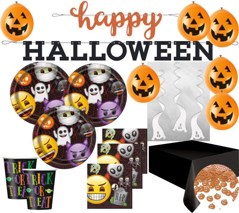 Xxl Halloween Deko Set Emoji Fur 16 Kinder Kaufen Bei Kids Party World