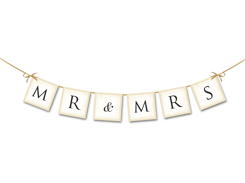 Mr and Mrs Verheiratet Ehe Leinwand Canvas Bild Wandbild Kunstdruck L2033