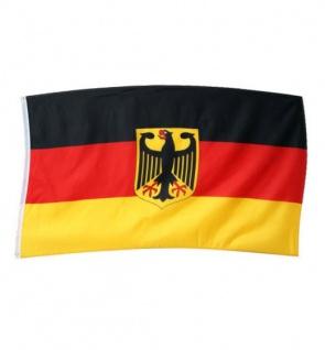 Deutschland Flagge mit Wappen 150x90