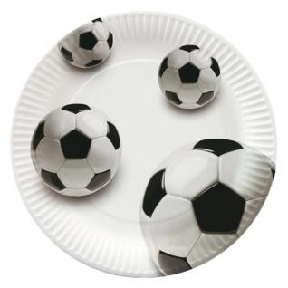 10 Fußball Teller Soccer