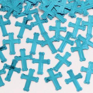 Kreuze Konfetti in Blau