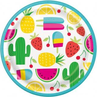8 Papp Teller Süße Früchte Party
