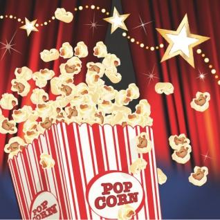 16 kleine Servietten Hollywood Popcorn Party