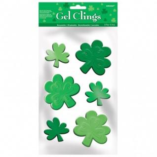 St. Patricks Day Kleeblatt Fenster Gel Sticker