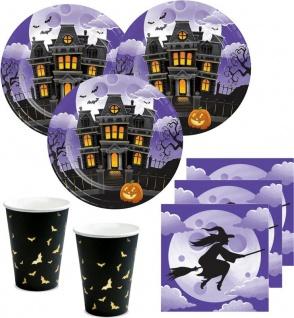 32 Teile Halloween Deko Set Hexen Spukhaus für 8 Personen