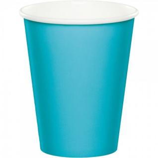 8 Becher Bermuda Blau