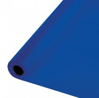 30 Meter Rolle Plastik Tischdecke Cobalt Blau