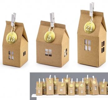 DIY Adventskalender 24 Paperbag Häuschen