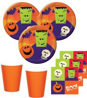 34 Teile kleines Fingerfood Halloween Deko Set Frankensteins Freunde 8 Kinder