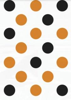 50 kleine Pünktchen Tüten Schwarz Orange